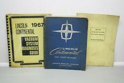 1967 Lincoln Continental Service Repair Shop Manuals Rear Window Vacuum System