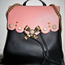 Authentic Brand New Limited Edition Backpack In Black And Pink Leather