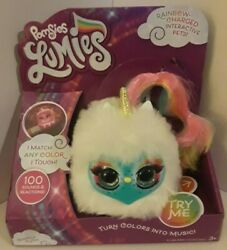 Pomsies Lumies Sparkle Rush Plush Unicorn Interactive Toy Changes Colors New