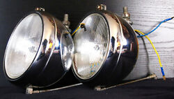S.e.v. Marchal H4 Iode 6 Driving Lamps Rare Under Bumper Lights Made In France
