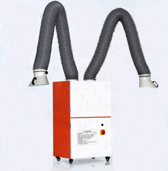 Dual-arm Welding Fume Extractor Mobile Unit 3000m³/h Airflow. Arm/normally 220v