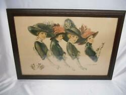 Rare Antique F. Earl Christy Hands Worth Holding Lithograph Print Art Picture