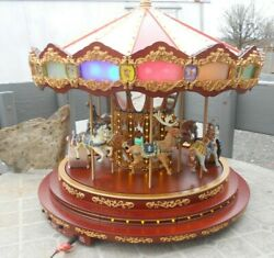 Animated Mr Christmas  Holiday Carousel Merry go Round  Musical GRAND MARQUEE