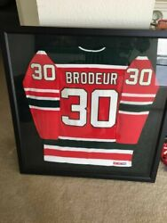 Martin Brodeur Hockey Jersey 30 Square Frame 41 7/8in. Width 2 3/8in. Weight 20