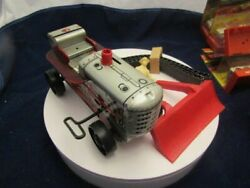 1955 Marx Sparkling Highboy Tractor W/blade/driver Brand New In Box