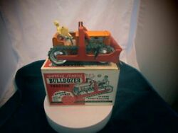 1950's Marx Sparkling Climbing Bulldozer And Driver Brand New In Box
