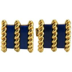 1970s And Co Lapis Gold Cufflinks