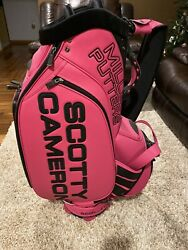 Scotty Cameron Pink Staff Bag Circle T Studio Design Titleist Tour New Rare