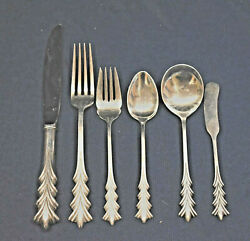 Crest Of Adam By Tuttle Sterling Flatware Set For 8 By 6 Matching Super Set