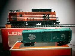 Lionel 6-8754 O Gauge New Haven Rectifer Locomotive Nh 8754 And6-16238 Nh Boxcar