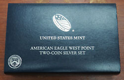 2013-w American Eagle Two Coin Silver Set Us Mint W/box And Coa Pcgs