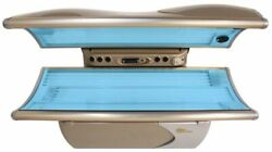 Beautiful Platinum Colored Santa Barbara Tanning Beds With Built In Stereo