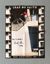 Zero And039leap Of Faithand039 Poster Signed By Jamie Thomas