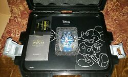 New In Box Disney Limited Edition Mickey Mouse W/ Blue Dial Mens Watch