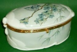 Old Schwarza Pastry Can Art Nouveau Art Deco Nouveau Covered Dish Candy Box
