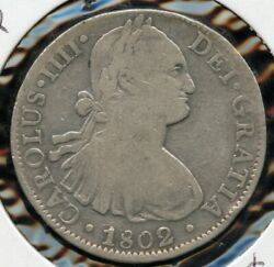 1802 Mexico 8 Reales Colonial Silver Coin