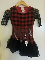 Ever After High Cerise Hood Costume For Kids Red Black Lace Super Cute Sz Lg 7/8