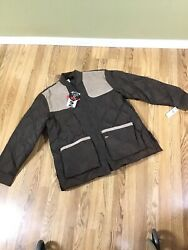New wTags 10X Down Ultra Suede Quilted Shooting Jacket Coat Mens XL Tall gift