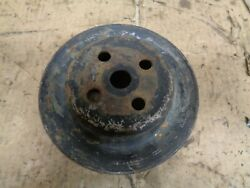 Old Chevy Engine Water Pump Pulley 2 Belt Pickup Rat Rod Dodge Ford Oem