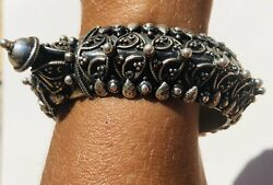 Sterling Silver 925 Traditional Rajasthani Tribal Bracelet From India