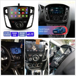 9and039and039 Hd 1+16gb Stereo Multimedia Player Gps Bt Wifi W/canbus For 12-17 Ford Focus