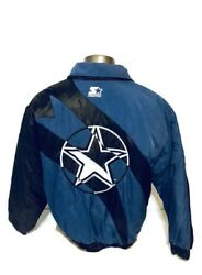 Dallas Cowboys Starter Classic Team Collection Size Large Jacket Free Ship