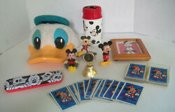9 Mixed Lot Of Disney Parks Mickey Mouse/ Donald Duck Toys/ Collectibles