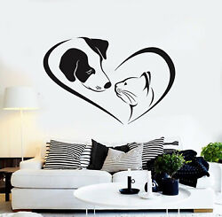 Vinyl Wall Decal House Pets Grooming Dog Cat Veterinary Nursery Stickers g2204