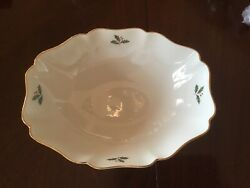 Lenox Holiday Bowl 10 X 8 Nib With Tags Rare Discontinued/retired
