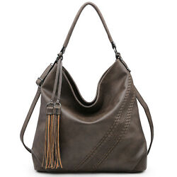 Dasein Women Large Hobo Handbags Faux Leather Shoulder Bags Crossbody Tote Purse $39.99