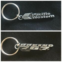 Vintage Pacific Western Airlines / Boeing 767 Keychain
