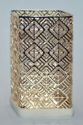 Bath And Body Works Gold Geometric Marble Gentle Foaming Hand Soap Sleeve Holder