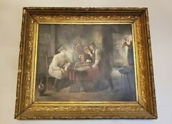 David Teniers The Younger Flemish Art Tric Trac Players 1686 Oil Painting