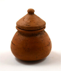 Roman A Pottery Pyxis With Lid.