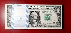 100 1 2013 Star Notes Consecutive Fancy Serial Number 99999 Pack