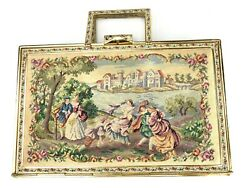 """Antique """"queen Of Petit Point"""" Tapestry Purse For Spritzer And Fuhrmann In Box"""