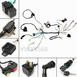 110cc Gy6 Complete Electrics Wiring Harness Rectifier Magneto Solenoid Atv Quad