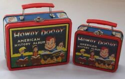 Howdy Doody 1998 National Broadcasting Co. Vintage Tin Lunch Boxes Lot Of 2