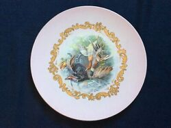 """Antique Russian Imperial Kuznetsov Porcelain Wall Plaque Plate 13"""" 24k Gold"""