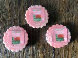 YANKEE CANDLE WAX TARTS MELTS LOT SUN DRENCHED APRICOT ROSE