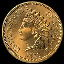 1859 Indian Head Cent Snow 2 Solid Gem++ Rare Highly Uncirculated Beauty Ih697