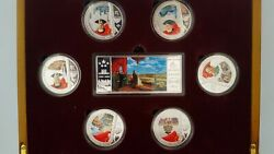 China 2009 Prc 60th Anniversary Silver Medallion Collector Set - Extremely Rare