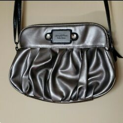 Simply Vera Vera Wang Metallic Crossbody Purse Pewter Bag $18.00