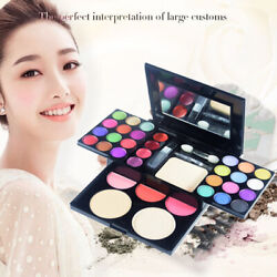 Lady Full Makeup Cosmetic Kit Palette Eyeshadow Blusher Foundation Lip Blush Set $9.88
