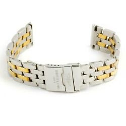 Breitling Sirius Stainless Steel/18k Yellow Gold 15mm Watch Bracelet