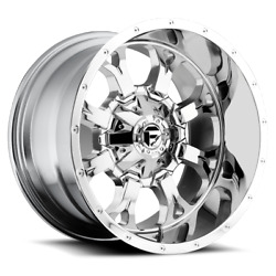 4 20x9 Fuel D516 Chrome Krank Wheels 6x135 And 6x139.7 For Ford Toyota Jeep