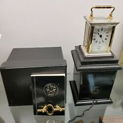 L'epee Corniche Hand Made Silver 8 Day Carriage Clock Subminiture Running