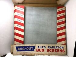 Vintage Bug Out Auto Car Radiator Bug Rock Screen Protector Display Case Of 12