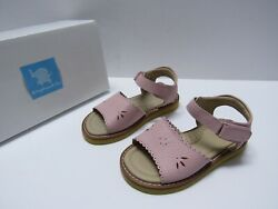 Elephantito Classic Sandal with Scallop Pink Leather Girls size 8 M $29.92