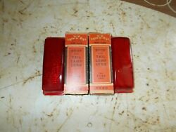 Vintage Nos Pair 1941 Ford Glass Stop Tail Lamp Light Lens Lynx Eye Ruby Red